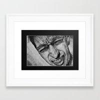 blink 182 Framed Art Prints featuring Blink by Neesh Patel
