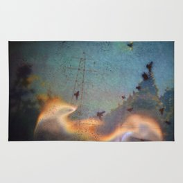 Birds On Fire / Glitch Utopia Rug