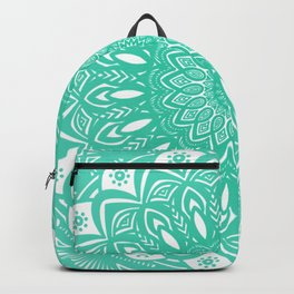 Minimal Aqua Seafoam Mint Green Mandala Simple Minimalistic Backpack