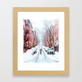 Wintery Walk in Beacon Hill Framed Art Print