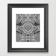 Rain in the Garden - black and white Framed Art Print