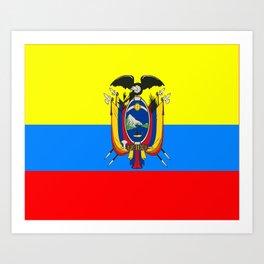 Flag of Ecuador Art Print