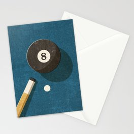 BILLIARDS / Ball 8 Stationery Cards