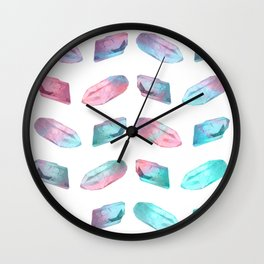 Crystal White Wall Clock