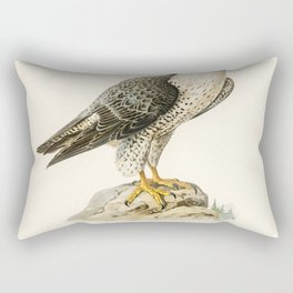 Peregrine Falcon (Falco peregrinus) illustrated by the von Wright brothers Rectangular Pillow
