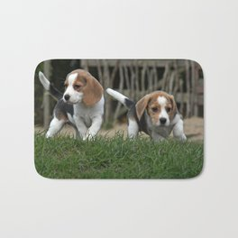 Beagle puppies Bath Mat