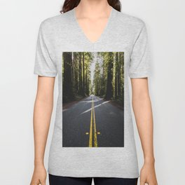 Redwoods Road Trip - Nature Photography Unisex V-Neck