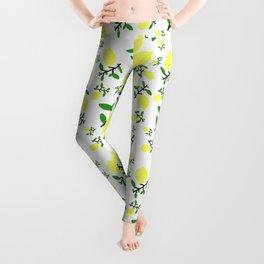 When Life Gives You - Lemon Print Leggings