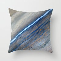 marble Throw Pillows featuring Marble by Santo Sagese
