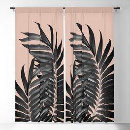 Palm Leaves Pale Terracotta Black Vibes #1 #tropical #decor #art #society6 Blackout Curtain