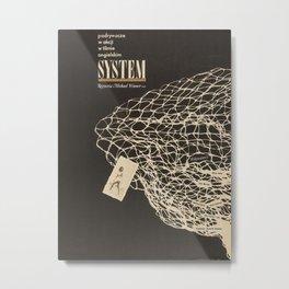 Polish film poster-System  Metal Print