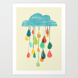 cloudy with a chance of rainbow Art Print