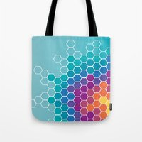 honeycomb Tote Bags featuring Honeycomb by AleyshaKate