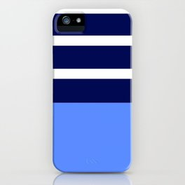 Summer Patio Perfect, Blue, White & Navy iPhone Case