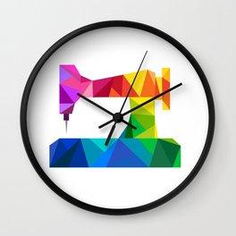 Geometric Sewing Machine Wall Clock