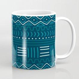 Mudcloth on Teal Coffee Mug