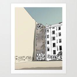 Warschauer Strasse Art Print