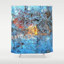 Frozen window Shower Curtain