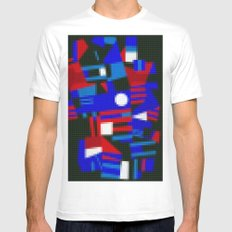 Lego: Abstract White MEDIUM Mens Fitted Tee