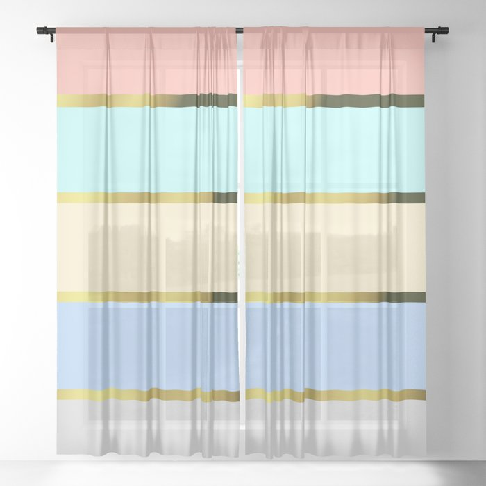 Pastel Colors Sheer Curtain By Susanart