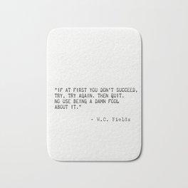 W.C. Fields quote Bath Mat