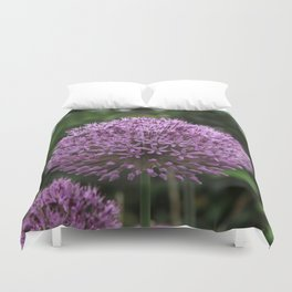 purple pom pom Duvet Cover