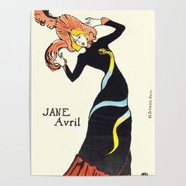 """Henri de Toulouse-Lautrec """"Jane Avril"""" Poster"""