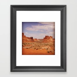 Arches National Park Backdrop Framed Art Print