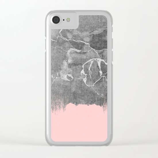 Crayon Marble with Pink Clear iPhone Case