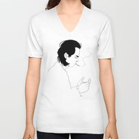 nick cave V-neck T-shirts featuring Nick by AnaMF
