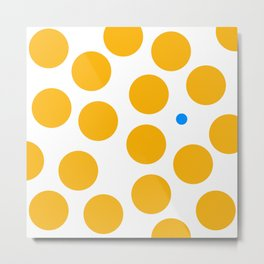 yellow dots 077 Metal Print