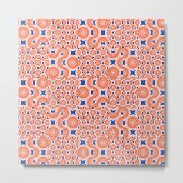 Orange Crush! A pop of orange and blue. Metal Print