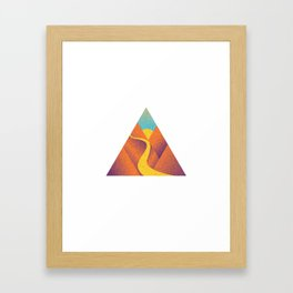 Triangle free way Framed Art Print