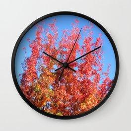 Fallbeauty/Rowan berries Wall Clock