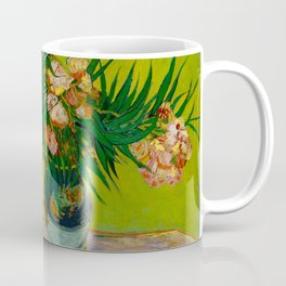 Oleanders Vincent van Gogh Oil On Canvas Floral Still Life Painting Coffee Mug