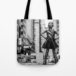Fearless Girl New York City Tote Bag