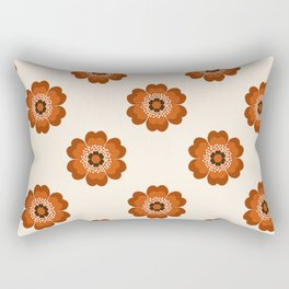 Retro floral flowers pattern minimal 70s style pattern print 1970's Rectangular Pillow