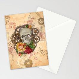 Steampunk Skull Stationery Cards