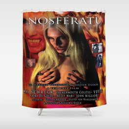 Nosferatu vs. Father Pipecock & Sister Funk (2014) -Movie Poster Shower Curtain