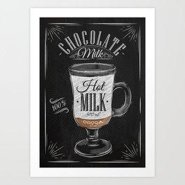 Coffee chocolate milk chalk Art Print