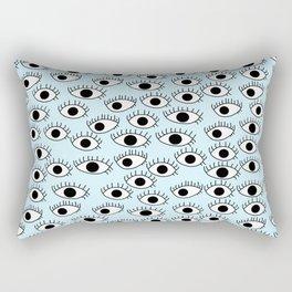 Cute Eyes Print Rectangular Pillow