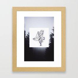 Pray for Snow Framed Art Print
