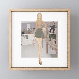 Stylized Signature Shopping Fashion Illustration A Framed Mini Art Print