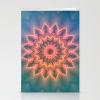 hippie Stationery Cards featuring Hippie Sun by Jellyfishtimes