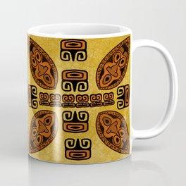 Tiki Mask Pattern Coffee Mug
