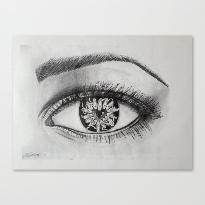 Ballet Meets The Eye Dancer Drawing Canvas Print By Mantoartistry Society6