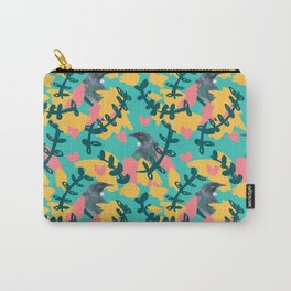 Blocky Tui Heart Print Carry-All Pouch