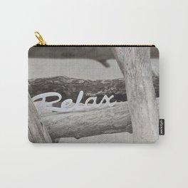 Relax driftwood summer beach Carry-All Pouch