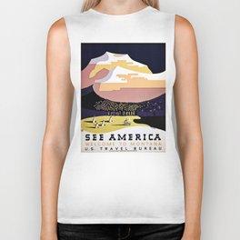 See America Montana travel ad Biker Tank
