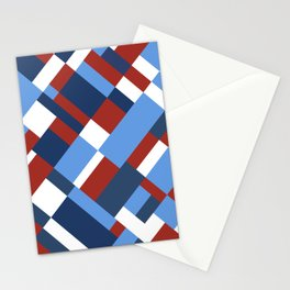 Map 45 Red White and Blue Stationery Cards